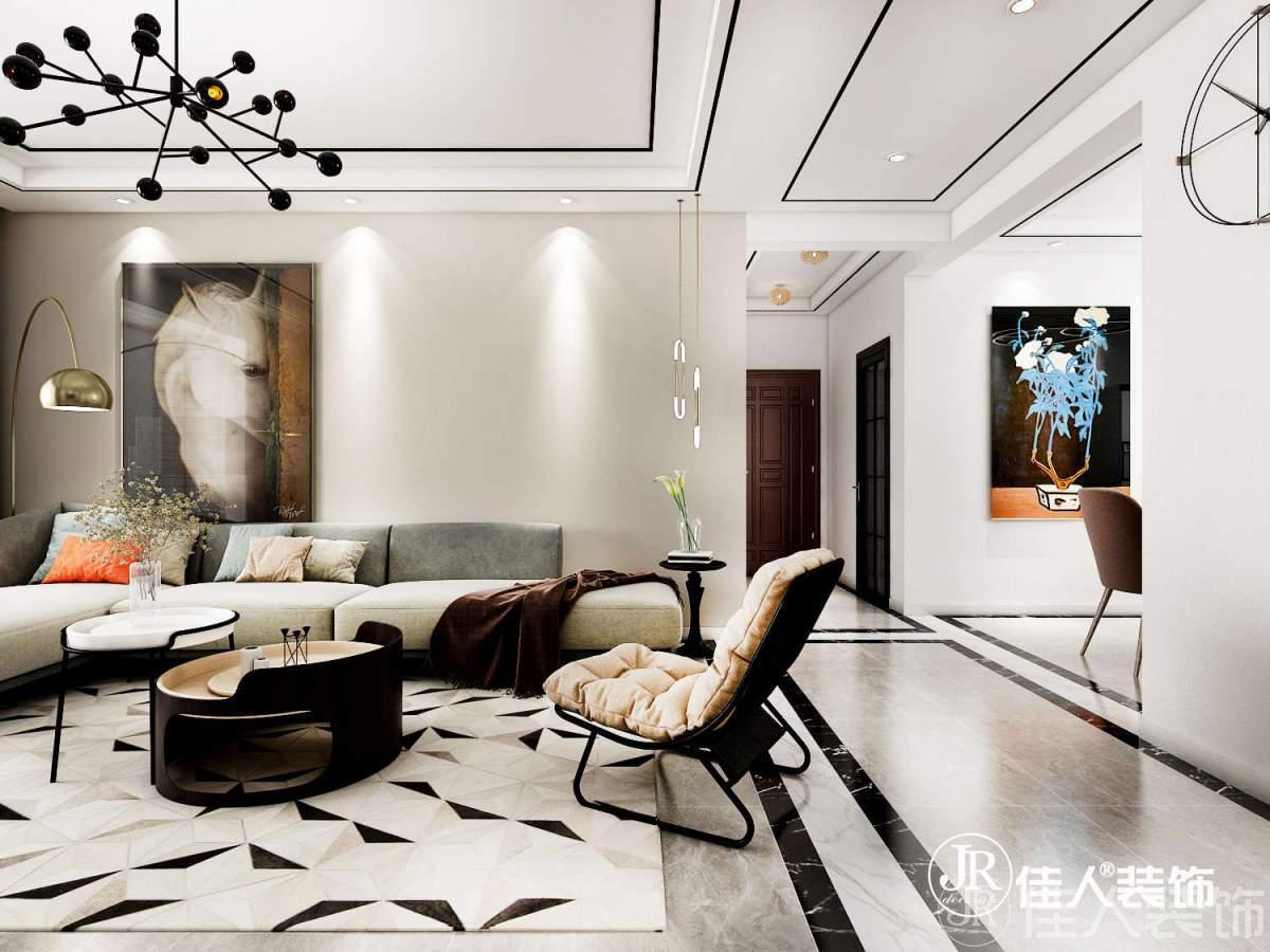秦皇島裝修案例紫城秦皇半島三室—現代簡約北歐混搭風格