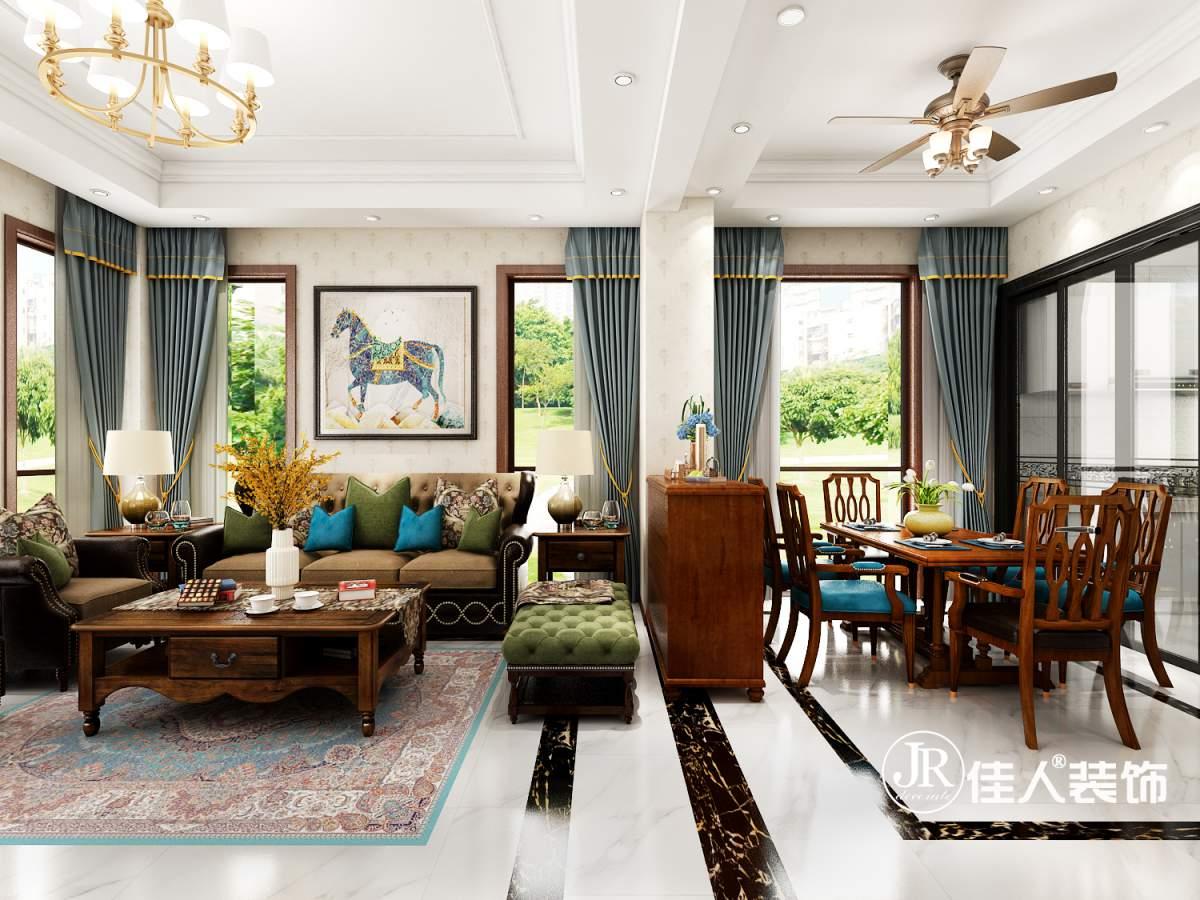 蔚藍海岸別墅—新中式風格