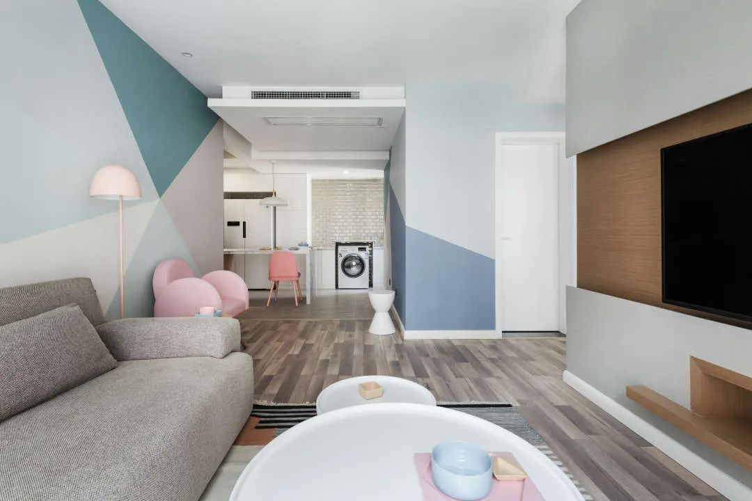 70㎡北歐風的家,竟成為色彩搭配與空間布局的典范