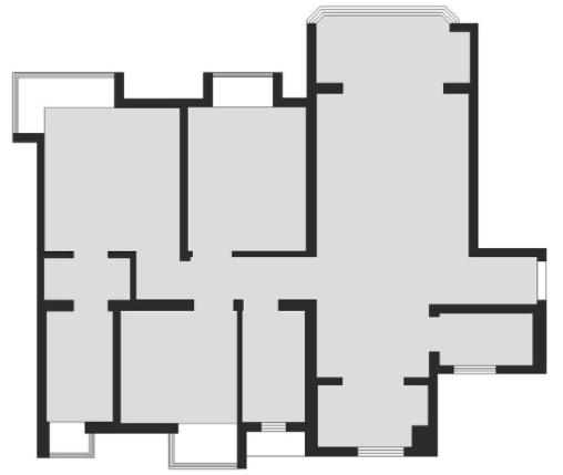 爆改100m2老房,三居室案例