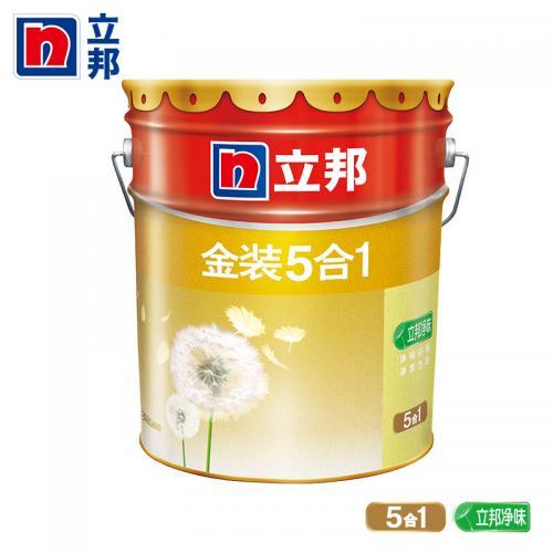 立邦漆 金装净味五合一内墙乳胶漆 18L