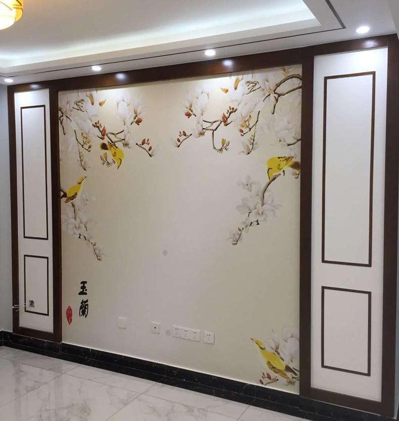 中式 影视墙