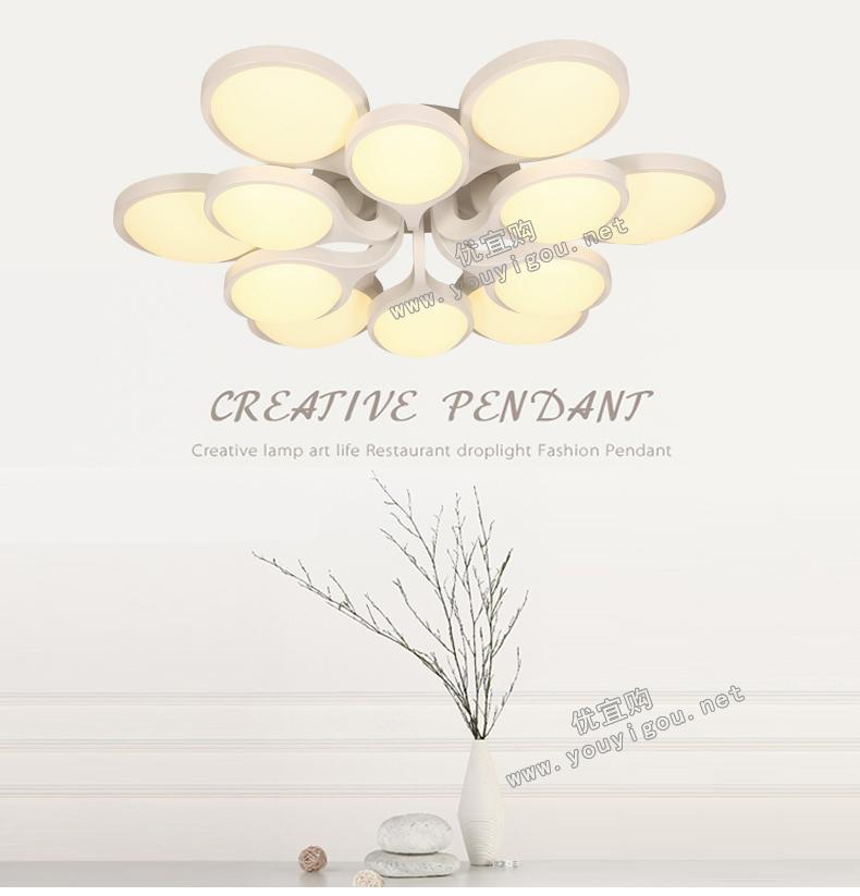 顶上明珠led 客厅灯个性后现代简约创意灯具餐厅灯卧室灯灯饰