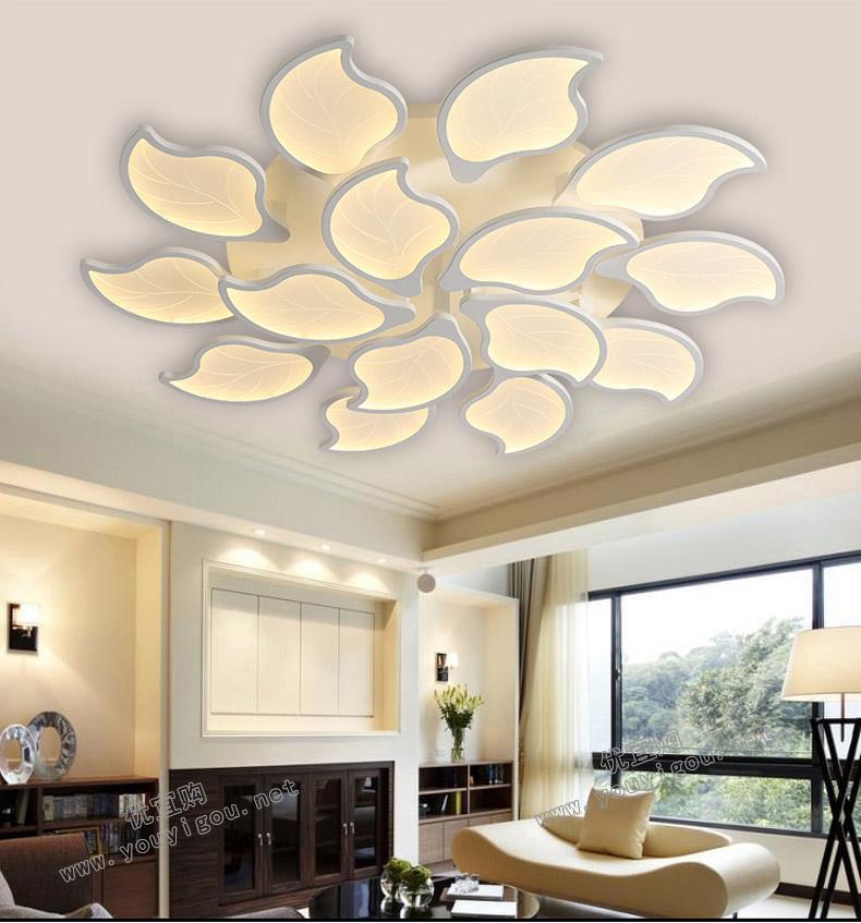 顶上明珠  创意客厅灯具大气后现代简约个性led吸顶灯大厅卧室灯饰