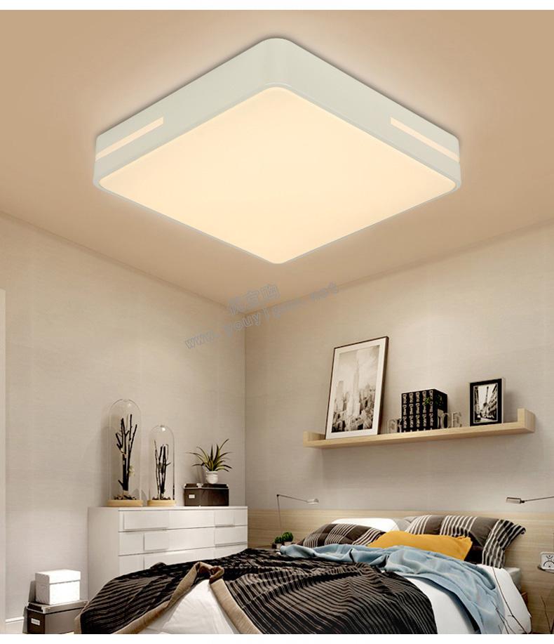 顶上明珠  新款LED客厅灯三室两厅套餐灯具现代简约长方形