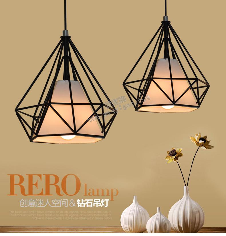 顶上明珠  新款餐吊灯简约现代创意时尚吧台灯个性饭厅餐厅灯具黑色