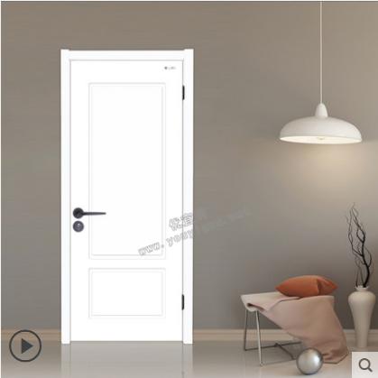 一一木门简约时尚室内门 卧室门实木复合油漆定制木门PX-627
