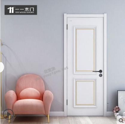 一一木门现代简约房门卧室门 实木复合油漆套装门定制木门ZX-722
