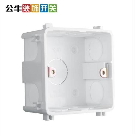 公牛(BULL) 86型暗盒底盒/H10  白色