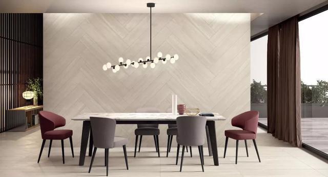 瓷砖上墙的几种思路,让客厅墙面不再