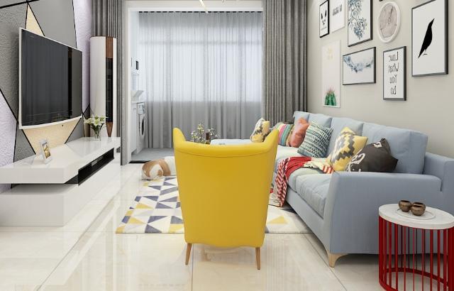 客厅瓷砖什么颜色好看?选对颜色很关键,黄色成为首选