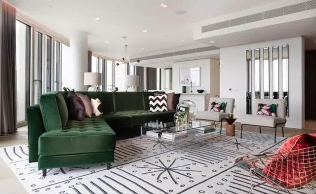 沙发摆放的3大pose 不一定要靠墙 这样放让客厅大一倍