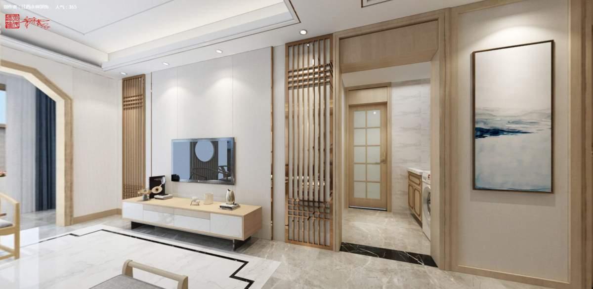 永伸装饰 | 金马御龙城46栋 新中式+原木色,东方韵味