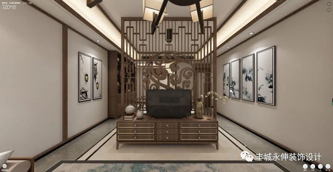 永伸装饰的新中式 , 把现代和传统完美结合的风格