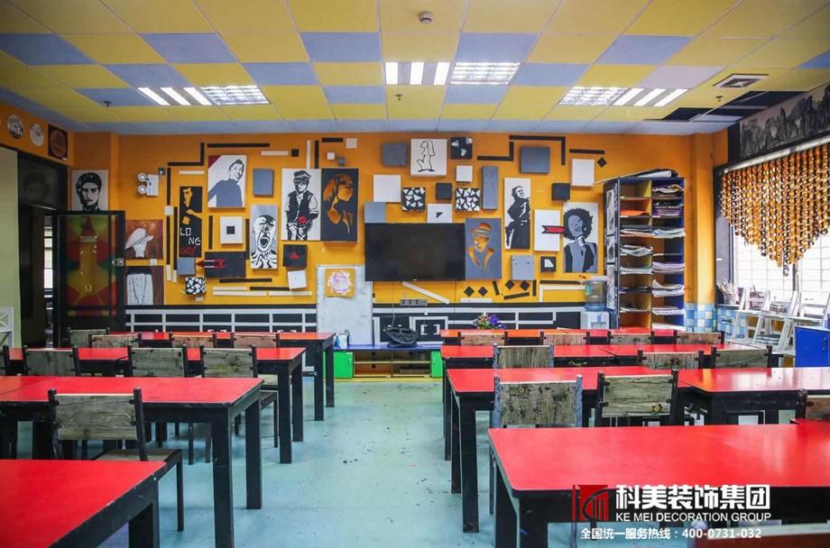 婁底裝修案例盧山美術學校