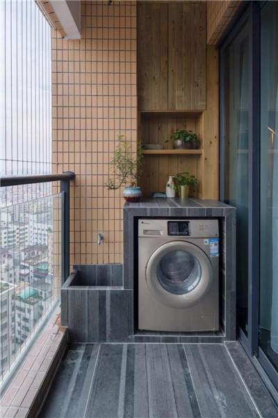 阳台做洗衣机和拖把池的设计方案