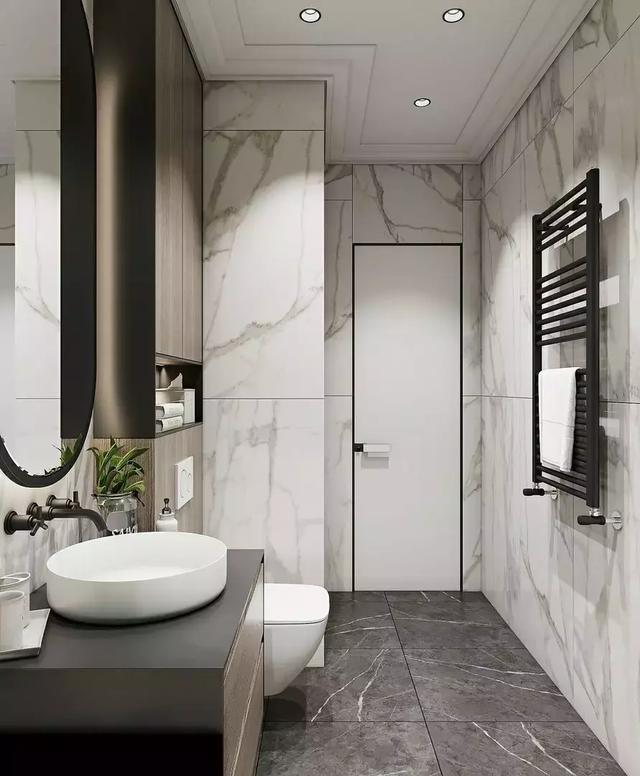 10个设计原则,让小卫生间装出豪宅的大气感!