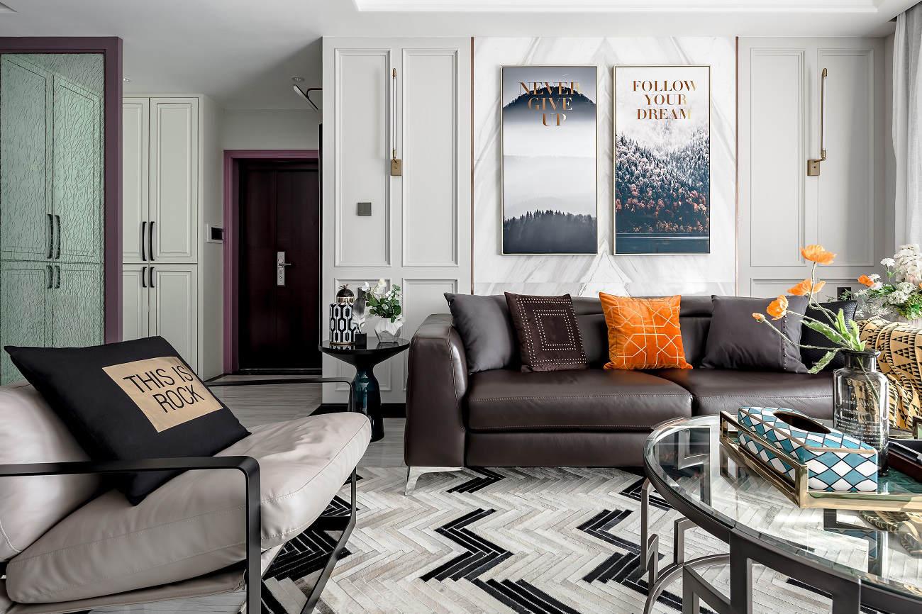 135㎡现代轻奢住宅,简单优雅,精致内敛