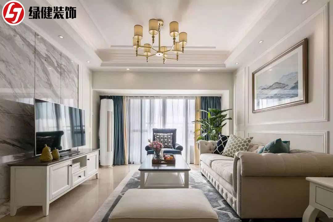 140㎡美式四居室,美式与现代完美融合