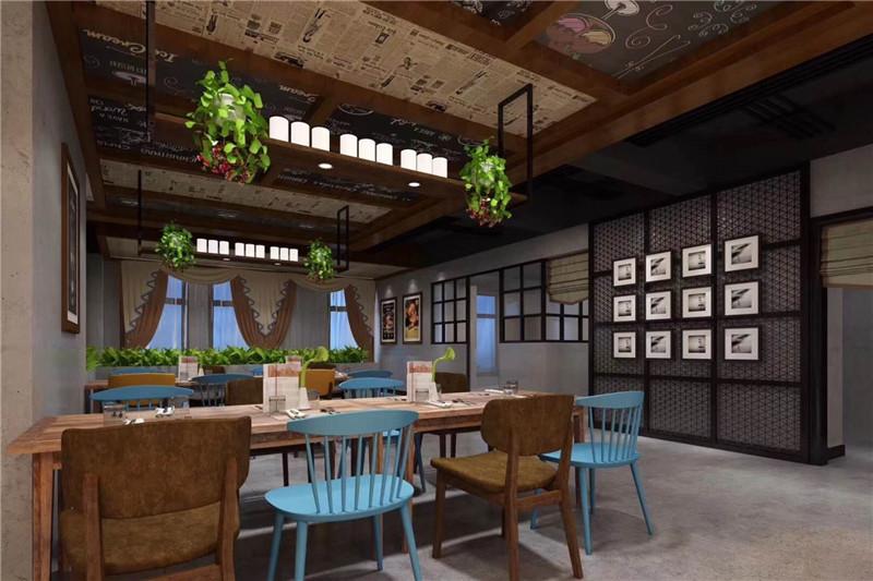 栾川新中式餐饮设计案例   天恒装饰设计施工