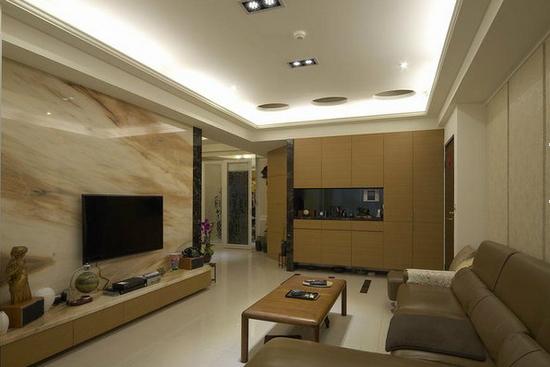 电视背景墙怎么用瓷砖装出高大上的感觉?