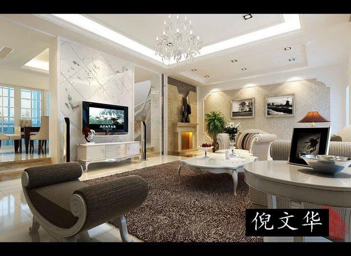 象山装修案例自建别墅客厅展示