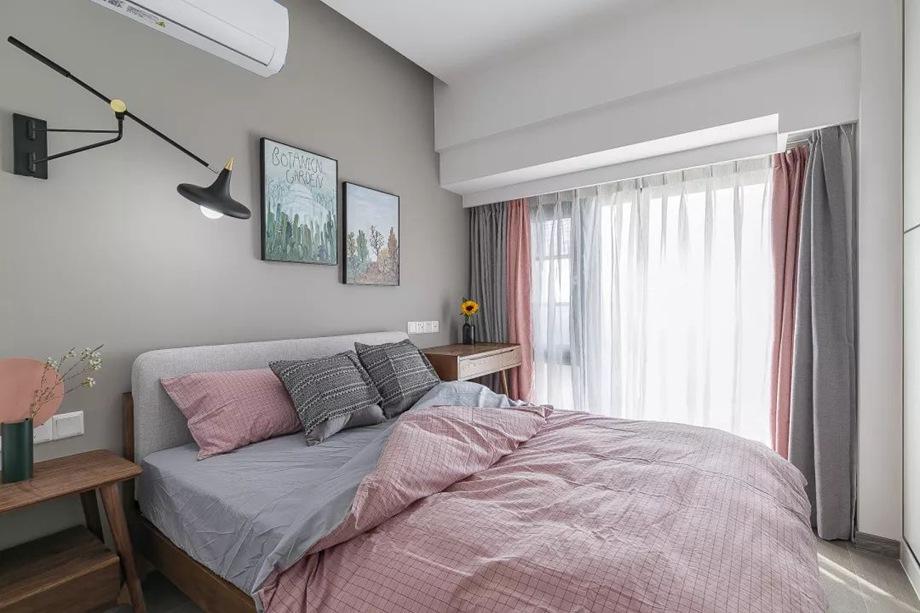 76平的北欧风小户型,用色彩搭配出层次分明的家,好喜欢