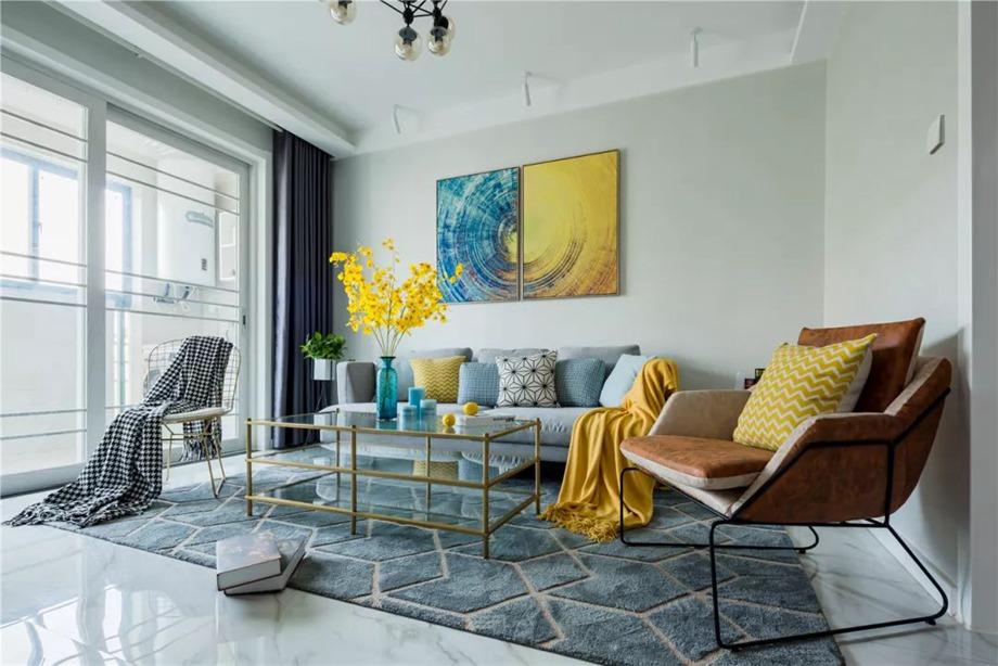 78平的现代风小户型,活力满满的设计,餐厅好有氛围。