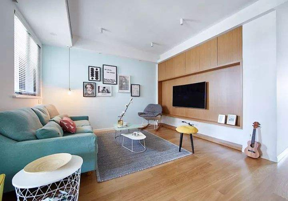 89平北欧风三居室,阳台变身工作区,简洁大方又舒适!