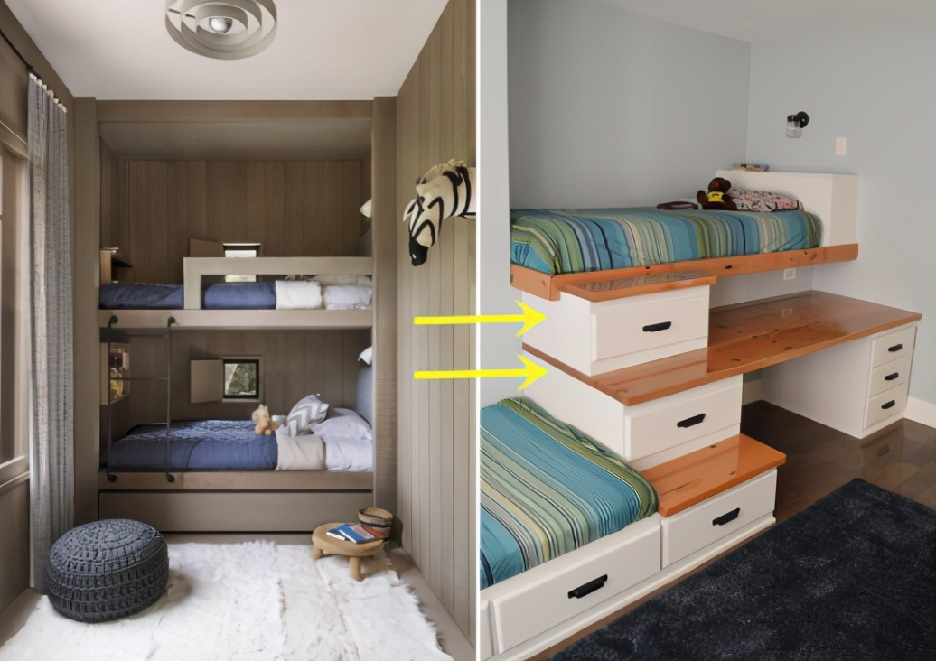 一间房睡两个孩子怎么装修