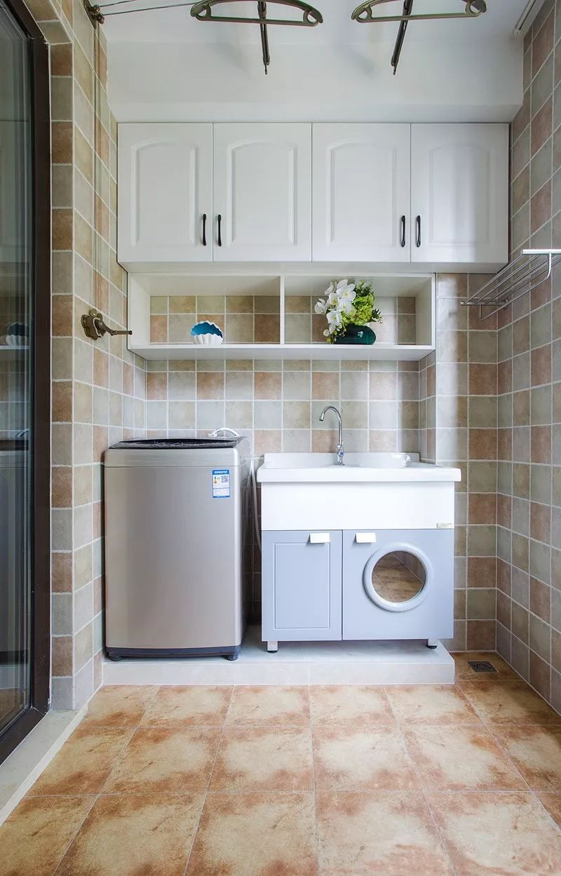 阳台怎能没有洗手台,不仅是实用,颜值也很高