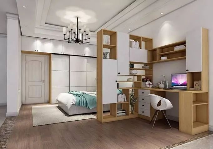 卧室书房一体化,最适合现代人的装修设计