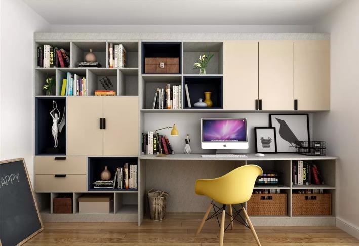 简单点,书房设计并不复杂