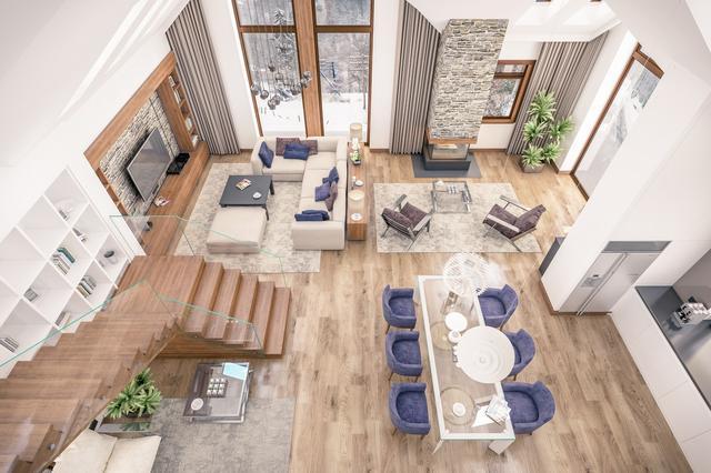 地毯镶嵌于楼梯,营造温馨气氛