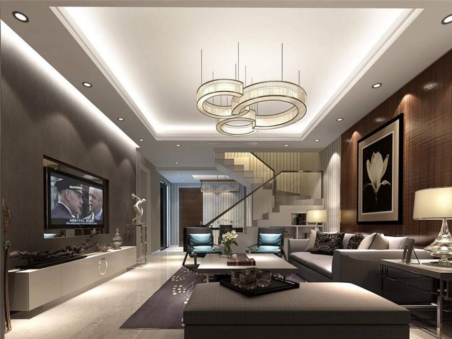 复式现代风格客厅