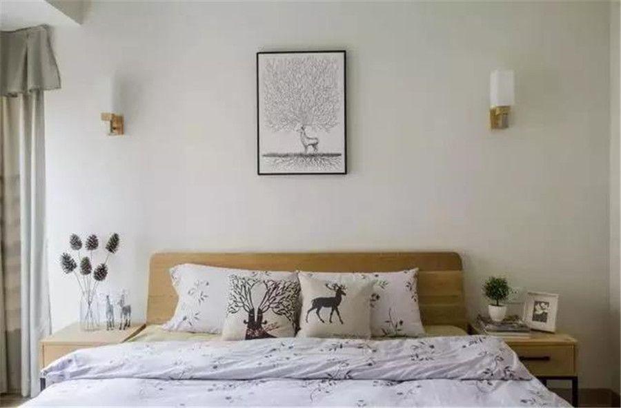 90㎡三居北歐風,花色瓷磚淋浴房,干凈而自然
