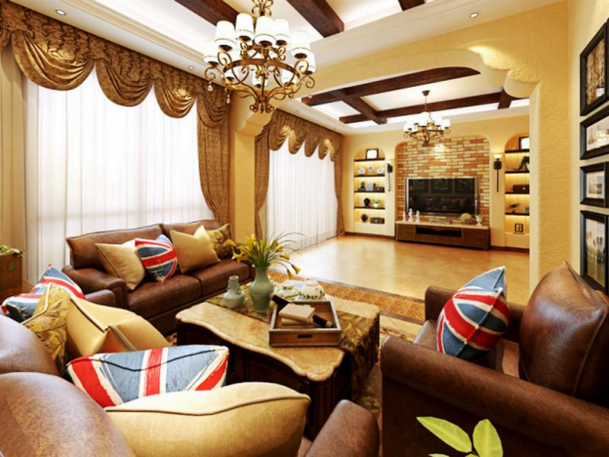 【南充華祥裝飾】大地自然色 表達質樸舒適美式家