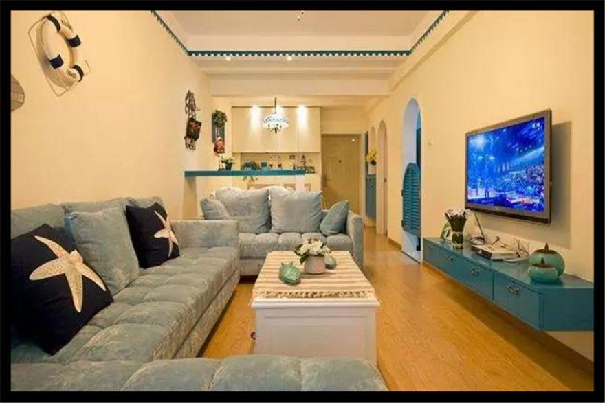 南充裝修設計師地中海浪漫住宅,80平只花了8萬