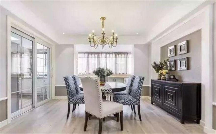 顏值逆天的143平米美式風,玄關和客廳設計!