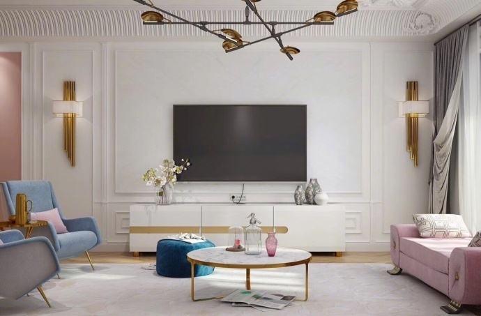 白色電視柜搭配,經典百搭各種裝修風格