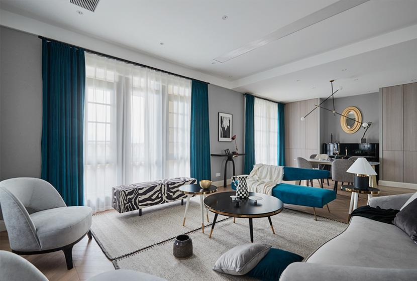 現代輕奢灰實景樣板間 復式大宅設計