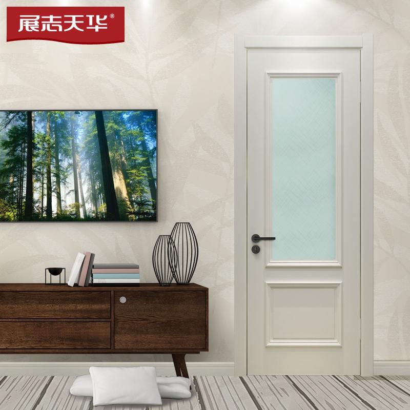 德州展志天華木門 現代簡約廚房門 衛生間油漆門Y061BS