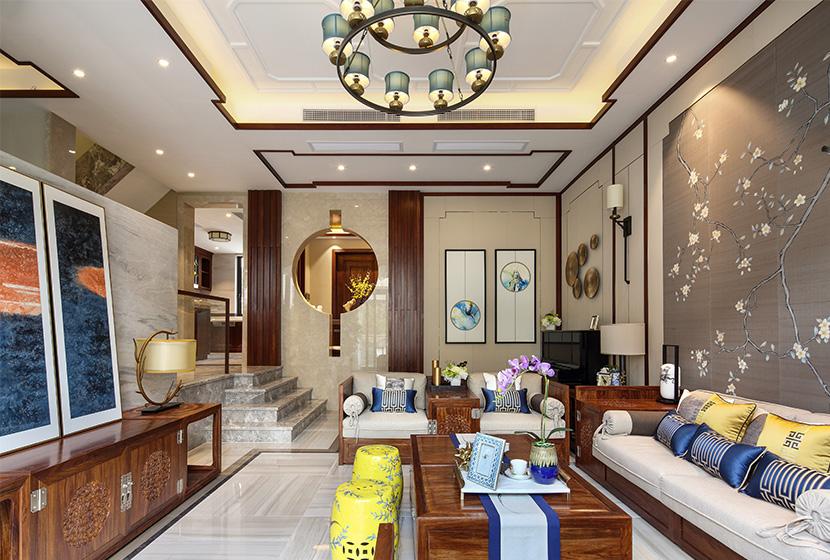 新中式紅木大宅樣板間實景欣賞