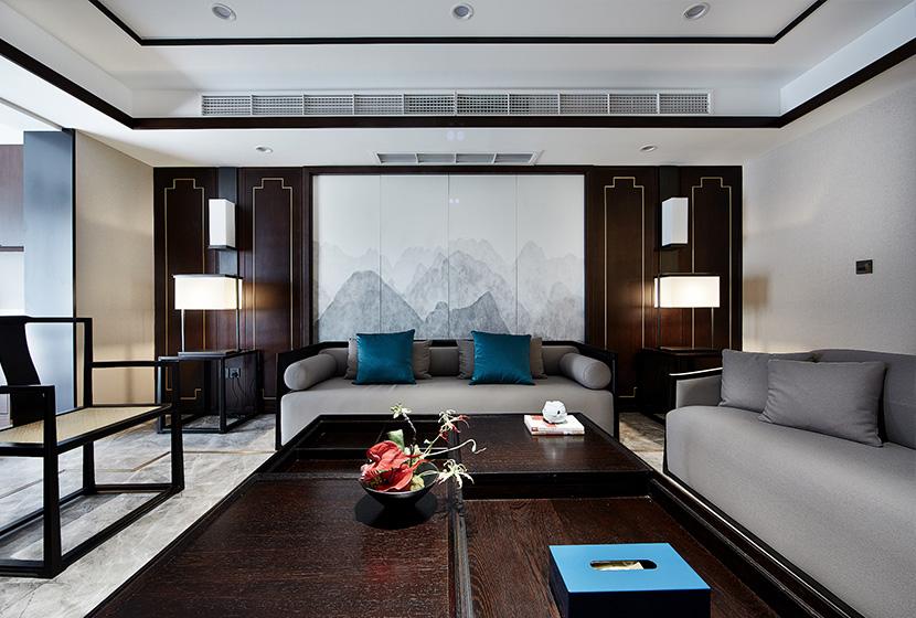 新中式風格樣板間實景古典與現代的結合