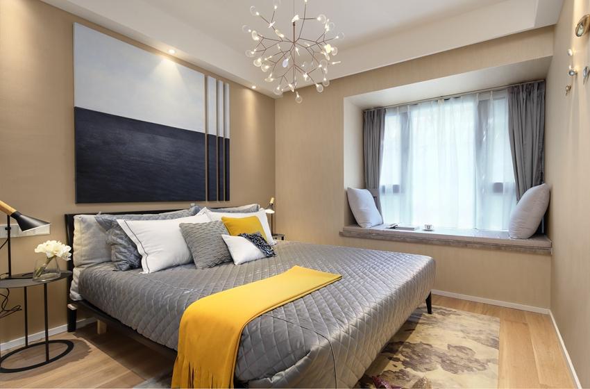 現代風格臥室裝修實景