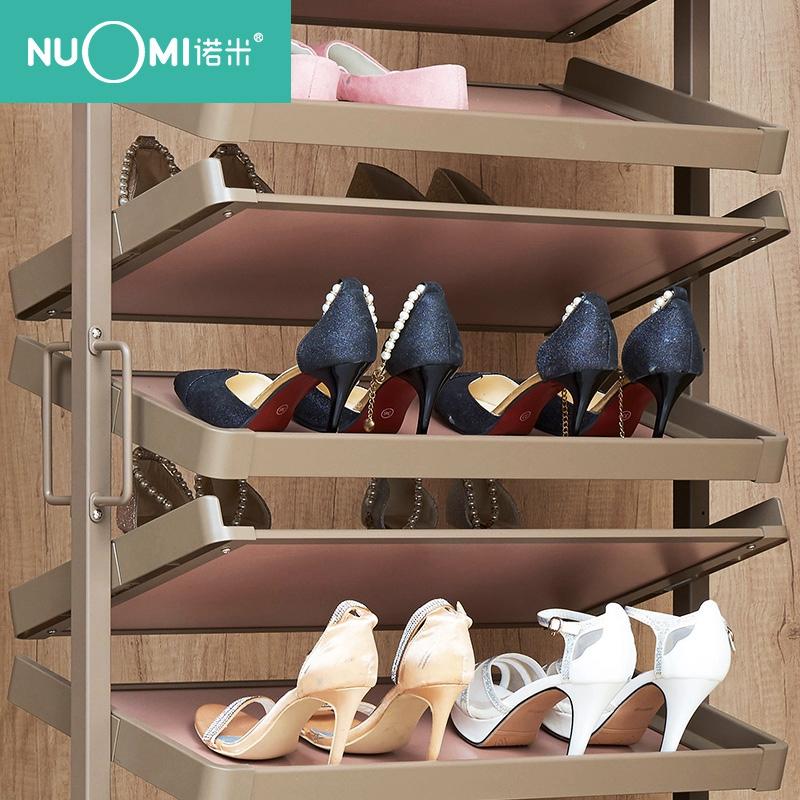 德州NUOMI/諾米|360°旋轉推拉收納鞋架|衣帽間收納五金鞋架
