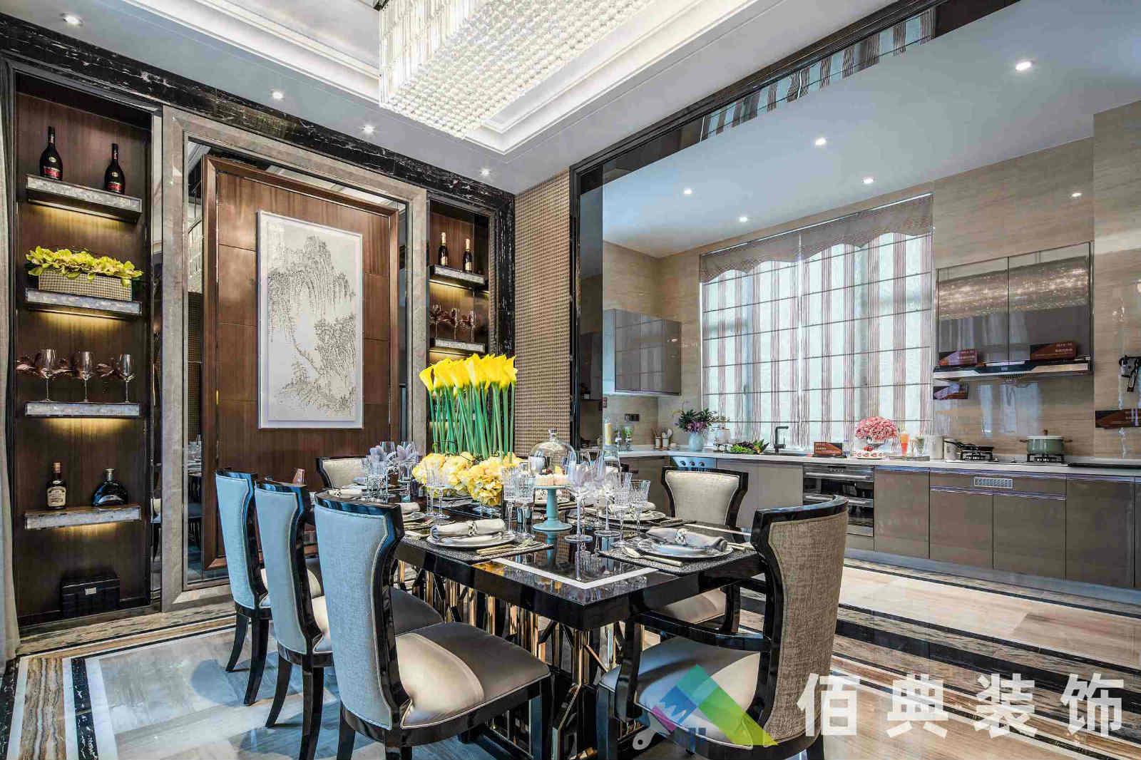 新华联别墅-640m²-新中式风格