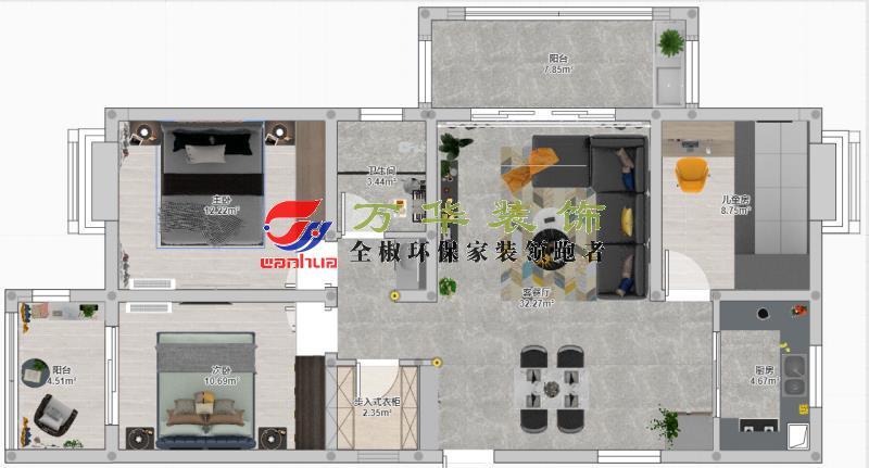 滁州裝修案例2020羅馬世紀城12棟案例