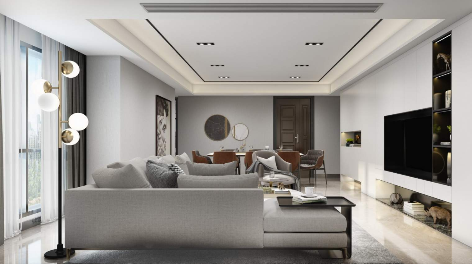 2021年滁州别墅现代风格设计案例