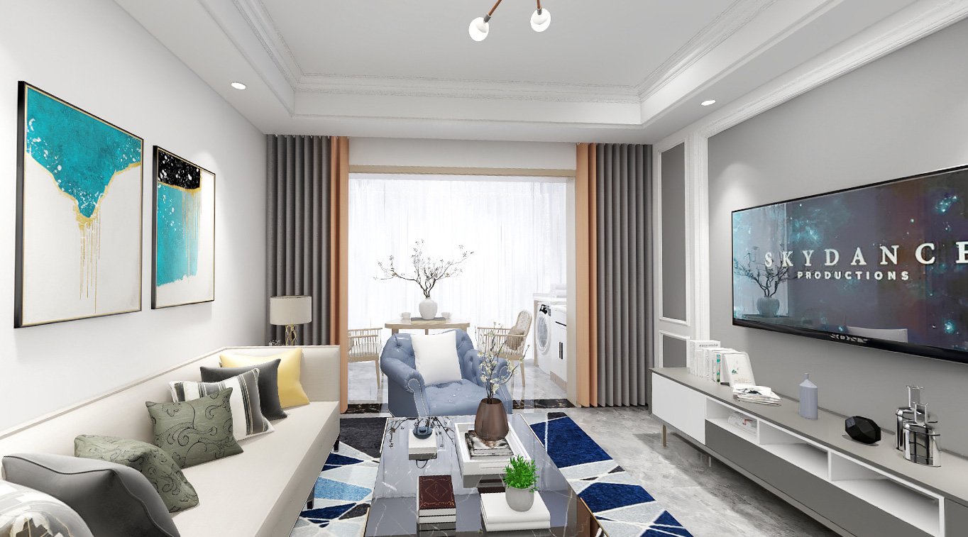 2021年紫金城25栋现代风格案例